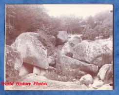 Photo Ancienne Vers 1895 / 1900 - HUELGOAT - Rochers - Carriére ? - Qualité Superbe - Finistère Bretagne - Anciennes (Av. 1900)