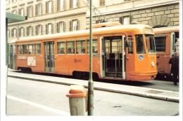 Photo Originale-Italia-Italie +/-1980-Tram-Tramway-ROME-ROMA Foto Di Un TRAMWAY Linea 14 -TW 8011-13x8,8cm - Treni