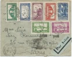LETTRE 1938 AVEC 7 TIMBRES - Algerien (1924-1962)