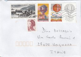 Francia 2016 - Busta X L'Italia Affrancata Con 5 Stamps - France