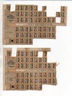 Guerre 1939-1945 - Tickets Ou Coupons De Rationnement 2éme Semestre 1946 / Cachet Ville De Troarn - Documents