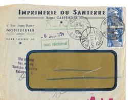 Lettre Pour Le Danemark 1954 KOBENHAVN - Briefe U. Dokumente