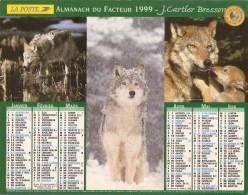 ALMANACH  DU  FACTEUR  1999   Meurthe Et Moselle.   LOUPS  /  OURS  /  SAUMON - Kalender