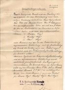 1 Einantwortungsurkunde Bezirksgericht Hernals - 4.2.1909 - Historische Dokumente