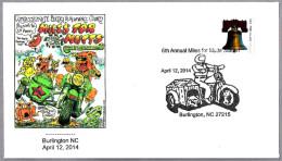 6th ANNUAL MILES FOR MUTTS - Motociclismo - Motorcycling - Perro - Dog. Burlington NC 2014 - Motorräder