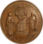 FRANCE. MÉDAILLE BAPTÊME, PREM. COMMUNION ET CONFIRMATION. 1.854. FRANCIA - Profesionales / De Sociedad