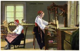 Leksand Dalarne - Atelier - Rouet - Fileuse. - Craft