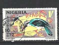 NIGERIA   1965 Animals  Halcyon Malimbica - Blue-breasted Kingfisher USED - Nigeria (...-1960)