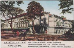 AK - COLOMBO - Bristol Hotel - Strassenszene Um 1900 - Sri Lanka (Ceylon)