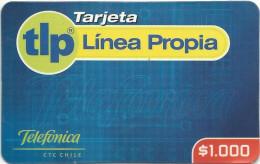 Chile - Telefonica - Tarjeta Linea Propia - 1.000CP$, GSM Refill, Exp. 30.09.2002, Used - Chile