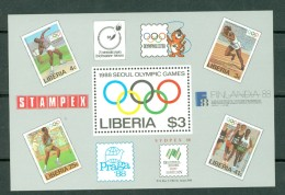 Liberia 1988 Yv  Bf 113**,  Mi Bl 114**  Olympic Games Seoul 1988 - Liberia