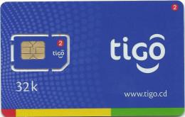 Congo (Kinshasa) - TIGO GSM SIM 32K, Mint - Congo