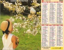 ALMANACH  DU  FACTEUR  1994   Meurthe Et Moselle.   OISEAU  /  LAPIN  /  POUSSINS - Kalender