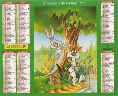 ALMANACH  DU  FACTEUR  1997   Meurthe Et Moselle.   TITI  /  RO MINET  /  BUNNY  /  ELMER - Kalender