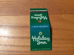 "Pochette D´allumettes ETATS UNIS ""Holiday Inn"" Fond Vert - Boites D'allumettes"