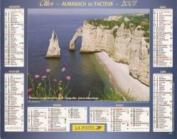 ALMANACH  DU  FACTEUR  2007   Meurthe Et Moselle.    FALAISES  D' ETRETAT  /  ETEL - Petit Format : 2001-...