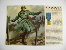ANDREA CAPOZZI  Valenzano  Bari - MEDAGLIE D'ORO 73 - FANTERIA - ILL. ALBERTARELLI Tracce Di Incollaggio Sul Retro - Guerre 1939-45