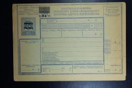 Poland Postbegleitadresse Parcel Post Form Unused Austrian Overprinted 15 H On 12 H Complete Rare!  1919