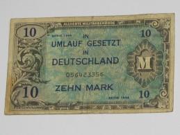 10 Zehn Mark In Umlauf Gesetzt In Deutschland- Allied Occupation WWII - ALLEMAGNE - Série 1944 *** EN ACHAT IMMEDIAT *** - [ 5] 1945-1949 : Occupation Des Alliés