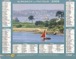 ALMANACH  DU  FACTEUR  2009   Meurthe Et Moselle.    VOILIER  /   PAYSAGE MARIN - Kleinformat : 2001-...