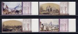 UKRAINE 2003 588-591 Kiev In Pictures Of Painters - Ukraine