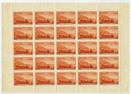 SOVIET UNION 1959 Natural Beauties (Tourism) 1 R. Complete Sheet Of 25 MNH / **.  Michel 2308 - 1923-1991 USSR