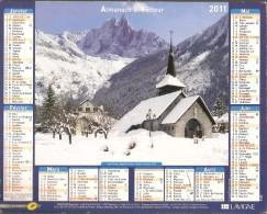 ALMANACH  DU  FACTEUR  2011    Vosges     LES PRATZ  AIGUILLE VERTE  /    LE MONESTIER-DU-PERCY - Kleinformat : 2001-...