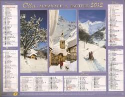 ALMANACH  DU  FACTEUR  2012   Vosges    PAYSAGES DE SAVOIE  /  HAUTE-SAVOIE  /  ISERE - Kleinformat : 2001-...