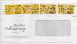 Espagne-1975-Lettre De LLORET DE MAR -cachets Sur Vignettes-enveloppe Personnalisée Gran Hotel Monterrey - 1931-Aujourd'hui: II. République - ....Juan Carlos I