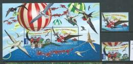 Christmas Island 2013 Christmas Set 2 + Miniature Sheet MNH - Christmas Island