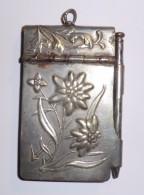 Carnet De Bal_métal Argenté_Edelweiss_1935_Art Nouveau - Argenteria