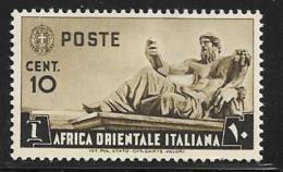 Italian Eastern Africa, Scott #4 Mint Hinged Statue Of The Nile, 1938 - Italian Eastern Africa