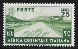 Italian Eastern Africa, Scott #7 Mint Hinged Desert Road, 1938 - Italian Eastern Africa