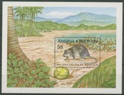 Antigua & Barbuda 1989 Westind. Riesen-Reisratte Block 164 Postfrisch (C71582) - Antigua Et Barbuda (1981-...)