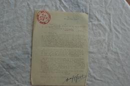 INTERESSANTE LETTRE DU COMMANDANT HUOT CHEF DE LA PLACE D ARLES AVANT SA DEMOBILISATION - Documents