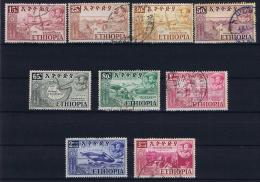 Ethiopia: 1952  Mi 318 - 326 Used, General Picture More Sets In Stock - Ethiopië