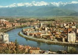 Grenoble.. Belle Vue De La Ville L'Isère L'Ile Verte La Chaîne De Belledonne - Grenoble
