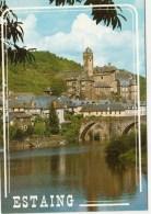 12 - Estaing Sur Les Bords Du Lot - Le Chateau Et Le Pont Gothique - Autres Communes