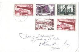 Lettre Sarre 1955 - 1947-56 Protectorate