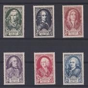 France 1949 - Y&T N°853 à 858 - Série Complète Célébrités XVIIIè Neuf ** - Unused Stamps