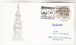 1969 GERMANY Stamps COVER (card) SLOGAN Illus BREMEN AEROSPACE & AVIATION INDUSTRY,  Flight - Airplanes