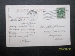 Canada: 1923 PPC To Mich. (#SG4) - 1911-1935 Règne De George V