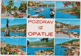 Postcard Jugoslavia Opatija Riviera Yugoslavia Pozdrav Iz Zagreb Croatia Kroatie - Yougoslavie