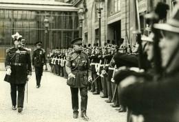 France Paris Belge Lieutenant Colonel Lemercier General Braconnier Ancienne Photo Meurisse 1930 - War, Military