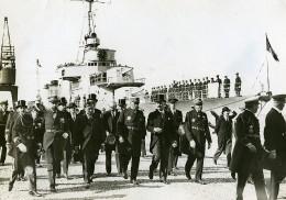 France Militaire Cortege Présidentiel Lebrun Quittant Le Vauban Ancienne Photo Meurisse 1934 - Bateaux