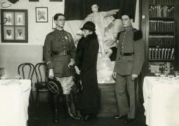 France Paris Militaire Maquette Monument General Mangin Ancienne Photo Meurisse 1934 - War, Military