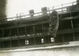 France Marine Paquebot L'ATLANTIQUE Après L'incendie Ancienne Photo Meurisse 1933