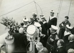 France Marine Céremonie Catastrophe Maritime? Ancienne Photo Meurisse 1932
