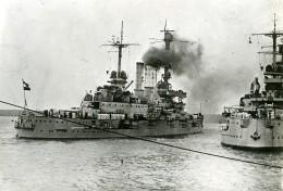 Poland Dantzig Marine Militaire Allemande SMS Schleswig-Holstein Hessen Ancienne Photo Meurisse 1932 - Boats