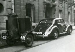 France Paris Transports Urbains Voiture De Luxe Gazogene Ancienne Photo Aubry 1940 - Cars
